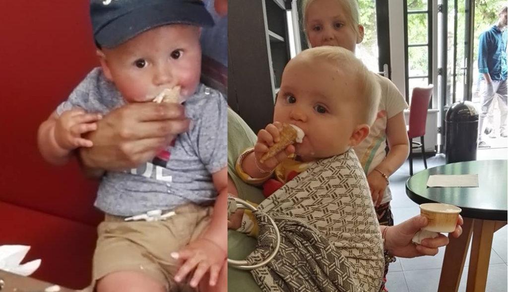 baby's eten ijsje
