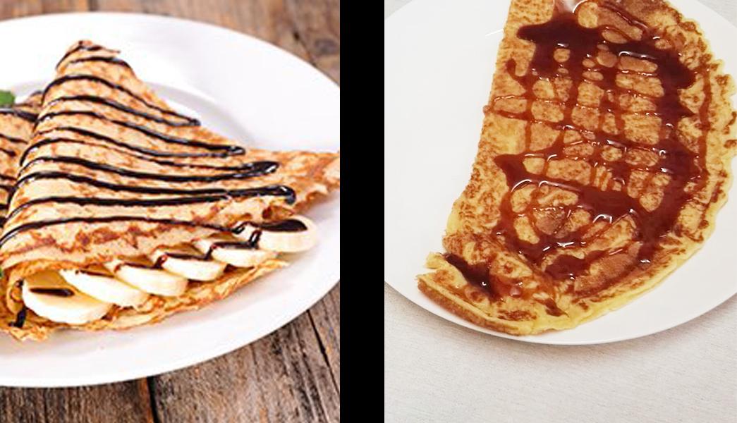 het verschil tussen een crepe en een pannenkoek